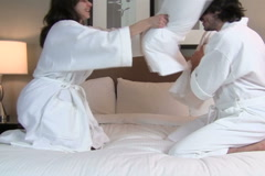 Pillow fight V1 - NTSC - stock footage