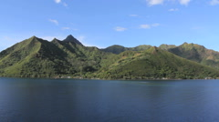 Moorea Mountains at Opunohu Bay  Stock Footage