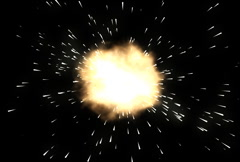 Explosion with Sparks Alpha Channel Stock Footage