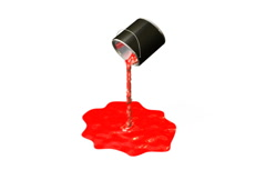 Red Paint Bucket Drop Stock Footage