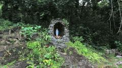 Moorea Lourdes grotto  Stock Footage