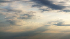 Timelapse of clouds on sundown Stock Footage