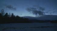 Timelapse Scotland landscape in the evening Stock Footage