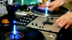 DJ Spinning Records Stock Footage