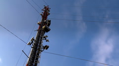 Communications Tower Timelapse Stock Footage