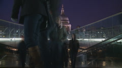 St Pauls, London timelapse 2 Stock Footage