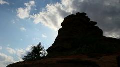 Sedona Scenic  Silhouette Time Lapse Stock Footage