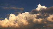 Cumulus clouds on horizon Stock Footage