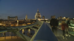 St Pauls, London timelapse 1 Stock Footage