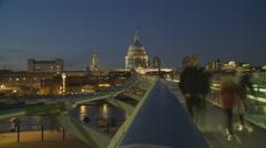 St Pauls, London timelapse 1 - stock footage