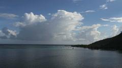 Moorea cloud at Opunohu Bay entrance Stock Footage