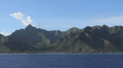Moorea approach to Opunohu Bay Stock Footage