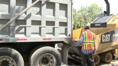 Dump truck reversing - stock footage