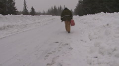 Out of gas in snowstorm #1 of 3 Stock Footage