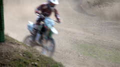 Motocross rider Stock Footage