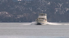 Fishing Boat Manuevering 2 Stock Footage