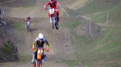 Motocross riders Stock Footage