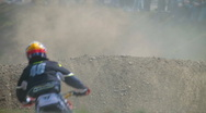 Stock Video Footage of Motocross on dirt road