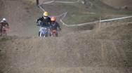 Stock Video Footage of Motocross racing