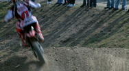 Stock Video Footage of Motocross on dusty road