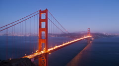 Golden Gate Bridge time lapse Stock Footage