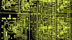 Radio circuitry luminescent Stock Footage