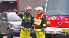 Sydney Building Fire & Evacuations PT1 Stock Footage