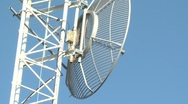 Microwave Dish Television Tower CloseUP Stock Footage