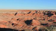 Erosion formations Painted Desert Stock Footage