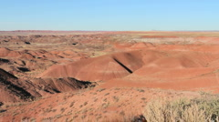 A view in Arizona's Painted Desert Stock Footage