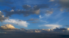 Clouds on horizon - stock footage