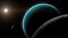 Uranus Titania Oberon Ariel Stock Footage