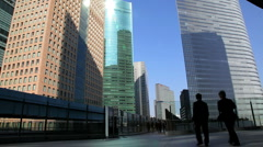 City centre office Buildings, Shiodome, Tokyo, Japan, Asia Stock Footage