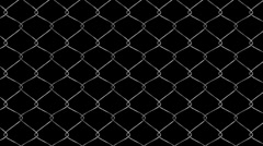 Chain link Fence Loop Animation  Stock Footage
