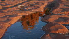Cathedral Rock Reflection - stock footage