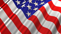 US Flag Loop Animation Angle View Stock Footage