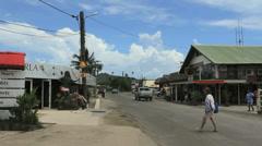 Bora Bora Vaitape town Stock Footage