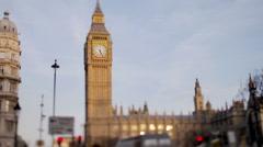 big ben london uk traffic - stock footage