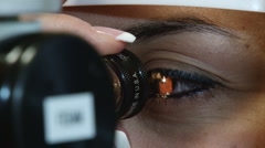 Eye Doctor With Patient 001 Stock Footage