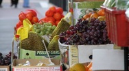 Stock Video Footage of Fruit Stand