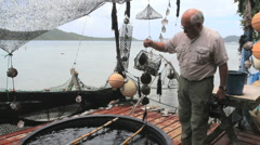 Society Islands Bora Bora pearl culture Stock Footage