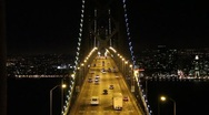 Stock Video Footage of San Francisco Bay Bridge Night