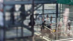 Bonn airport passengers boarding Stock Footage