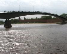 Bridge on the river Stock Footage