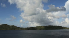 Bora Bora motu with cloud  Stock Footage