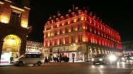 Stock Video Footage of Hotel du Louvre (Paris) Historic luxury hotel