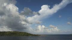 Bora Bora lagoon and motu Stock Footage