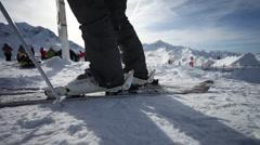 Ski Start 1 Stock Footage