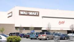 Walmart Supercenter Driveby Stock Footage