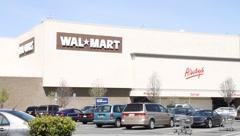 Walmart Supercenter Wide Stock Footage